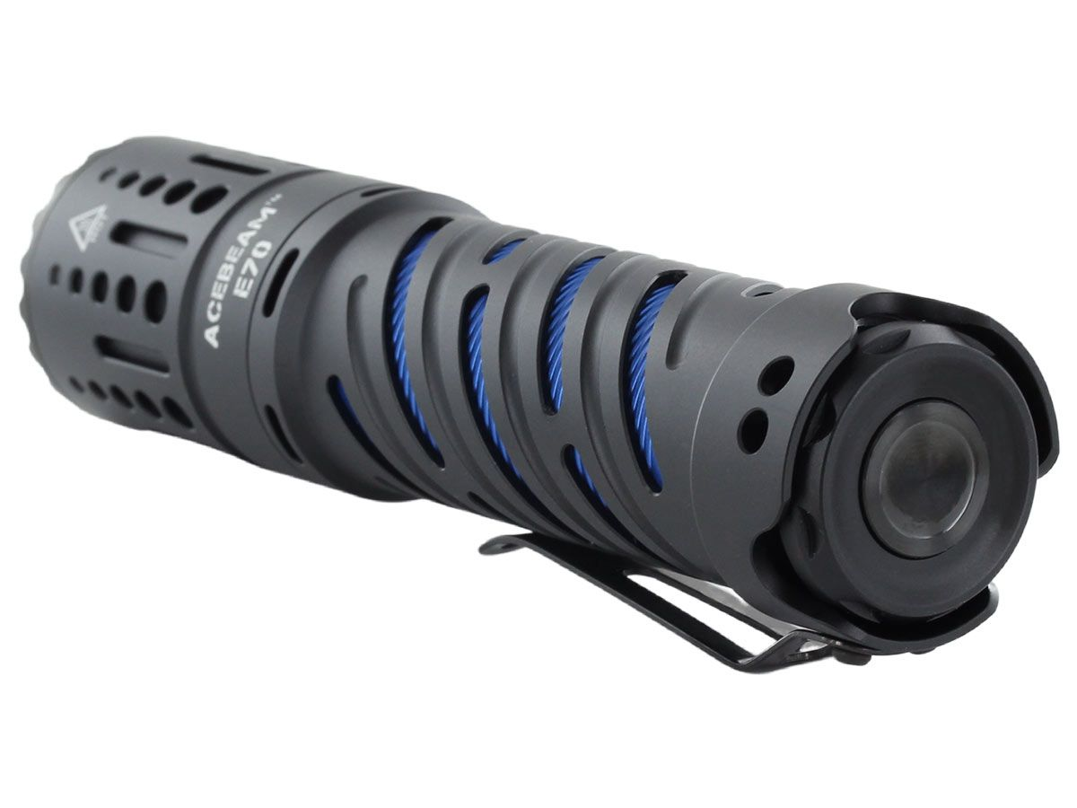 acebeam e70 manufacturer slide with throw features