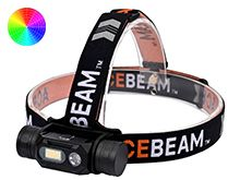 Acebeam H60 Full Spectrum LED Headlamp - High CRI LED - 1250 Lumens - Uses 1 x 18650 (Not included)