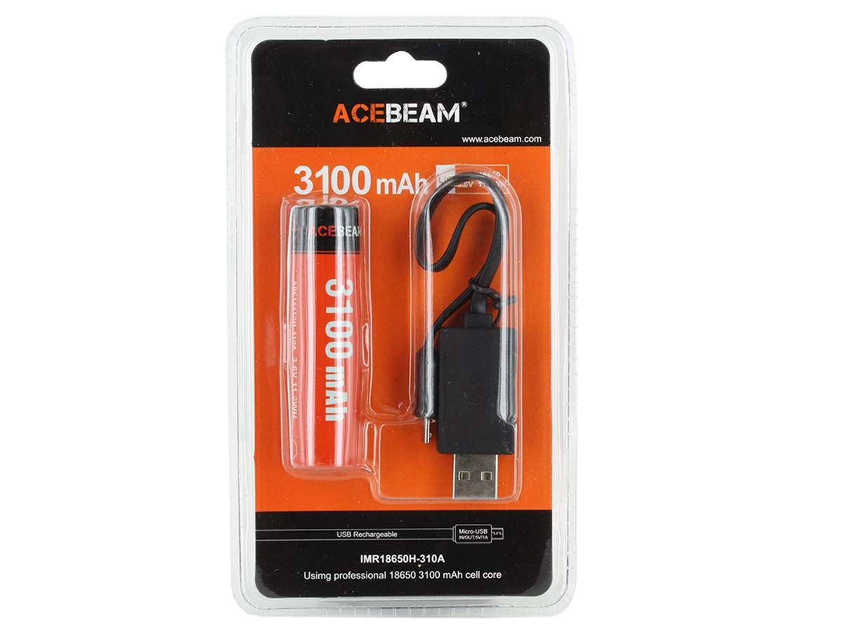 Acebeam 18650 packaging front