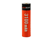 Acebeam IMR 18650 3100mAh 3.6V Protected High-Drain 20A Lithium Ion (Li-ion) Button Top Battery with Micro USB Charging Port