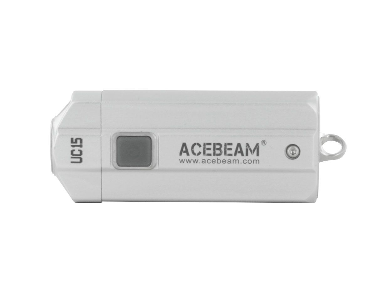 Acebeam UC15 silver horizontal front
