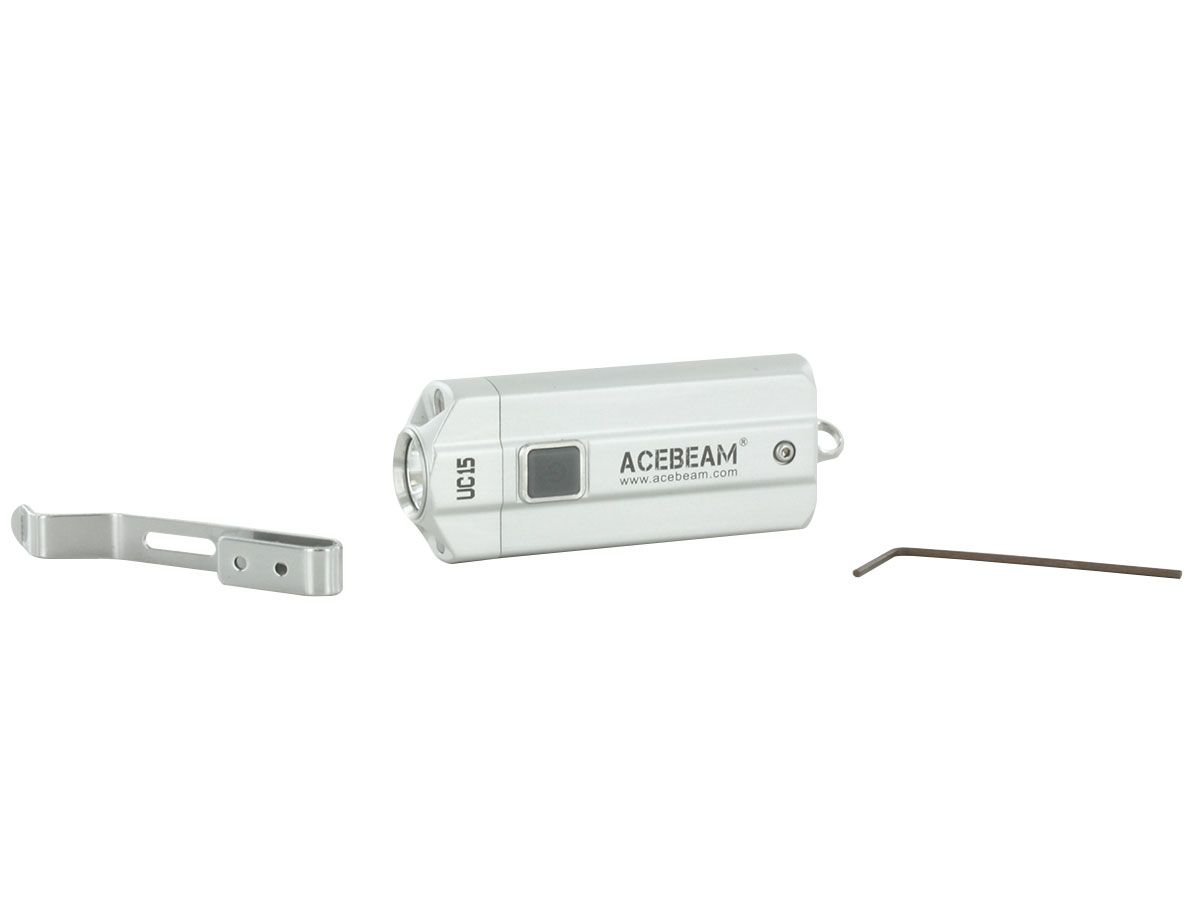 Acebeam UC15 silver package contents