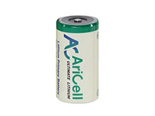AriCell SCL-05AX 2/3 AA 1650mAh 3.6V Lithium Thionyl Chloride (LiSOCI2) Battery with Axial Leads - Bulk