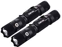 BUNDLE: 2 x Powertac E9R-G4 Rechargeable LED Flashlight - CREE XHP50 - 2550 Lumens - Includes 2 x 18650
