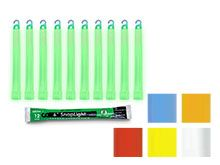 """Cyalume 6"""" SnapLight - Case of 10  - Individually Foiled - Multiple Colors"""