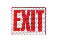 """Cyalume CyFlect Products 8"""" x 10"""" EXIT Sign (adhesive)"""
