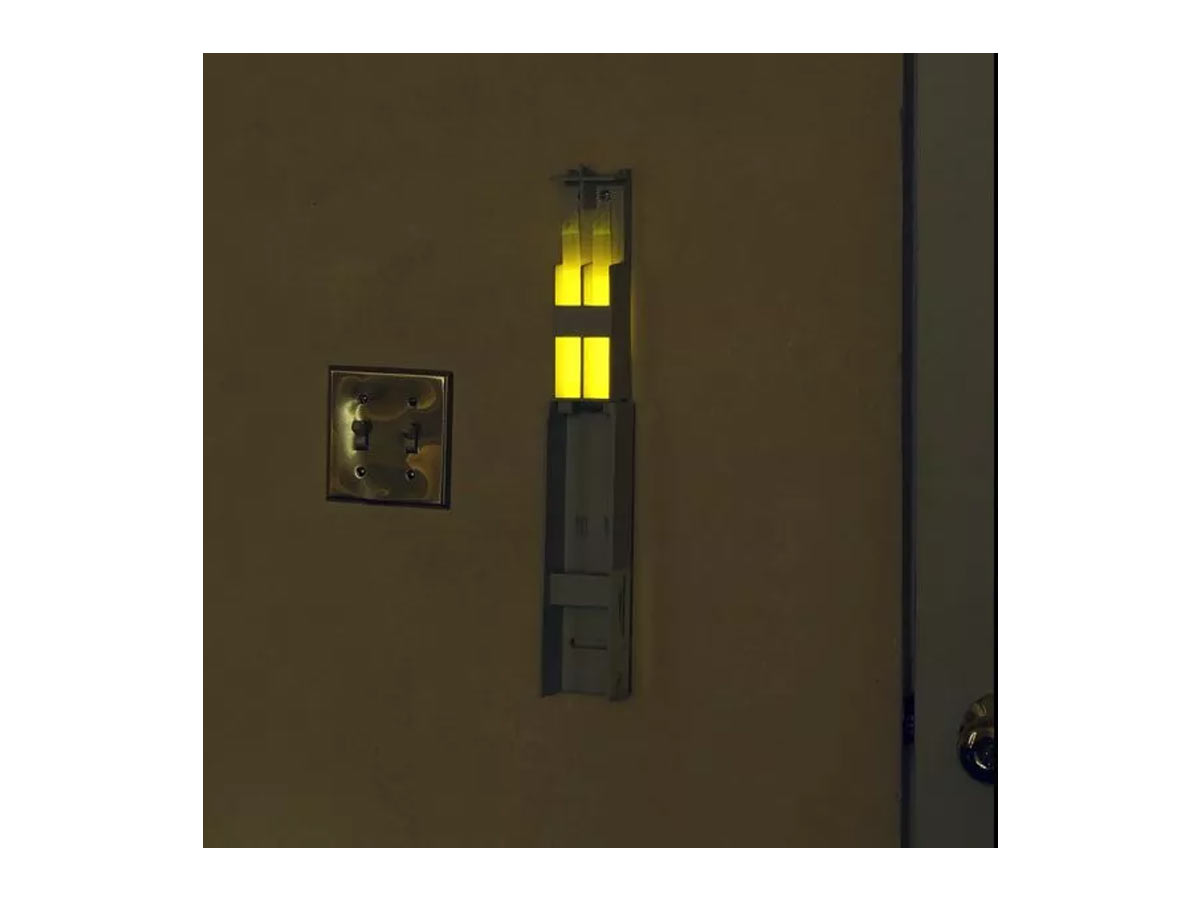 cyalume emergency lighting system - SEE system installed on a wall