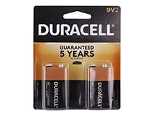 Duracell Coppertop Duralock MN1604-B2 9V 6LR61 Alkaline Battery with Snap Connectors (MN1604B2) - 2 Piece Retail Card