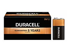 Duracell Coppertop MN1604 (12PK) 9V Alkaline Batteries with Snap Connectors (MN1604BKD) - Contractor Pack of 12