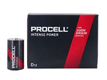 Duracell Procell Intense PX1300 (12PK) D-cell 1.5V Alkaline Button Top Batteries (PX1300BKD) - Contractor Pack of 12