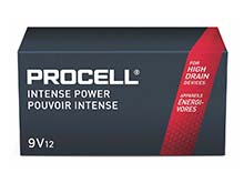 Duracell Procell Intense PX1604 (12PK) 9V Alkaline Batteries with Snap Connectors (PX1604BKD) - Contractor Pack of 12