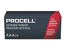 Duracell Procell Intense PX2400 (24PK) AAA 1.5V Alkaline Button Top Batteries (PX2400BKD) - Contractor Pack of 24