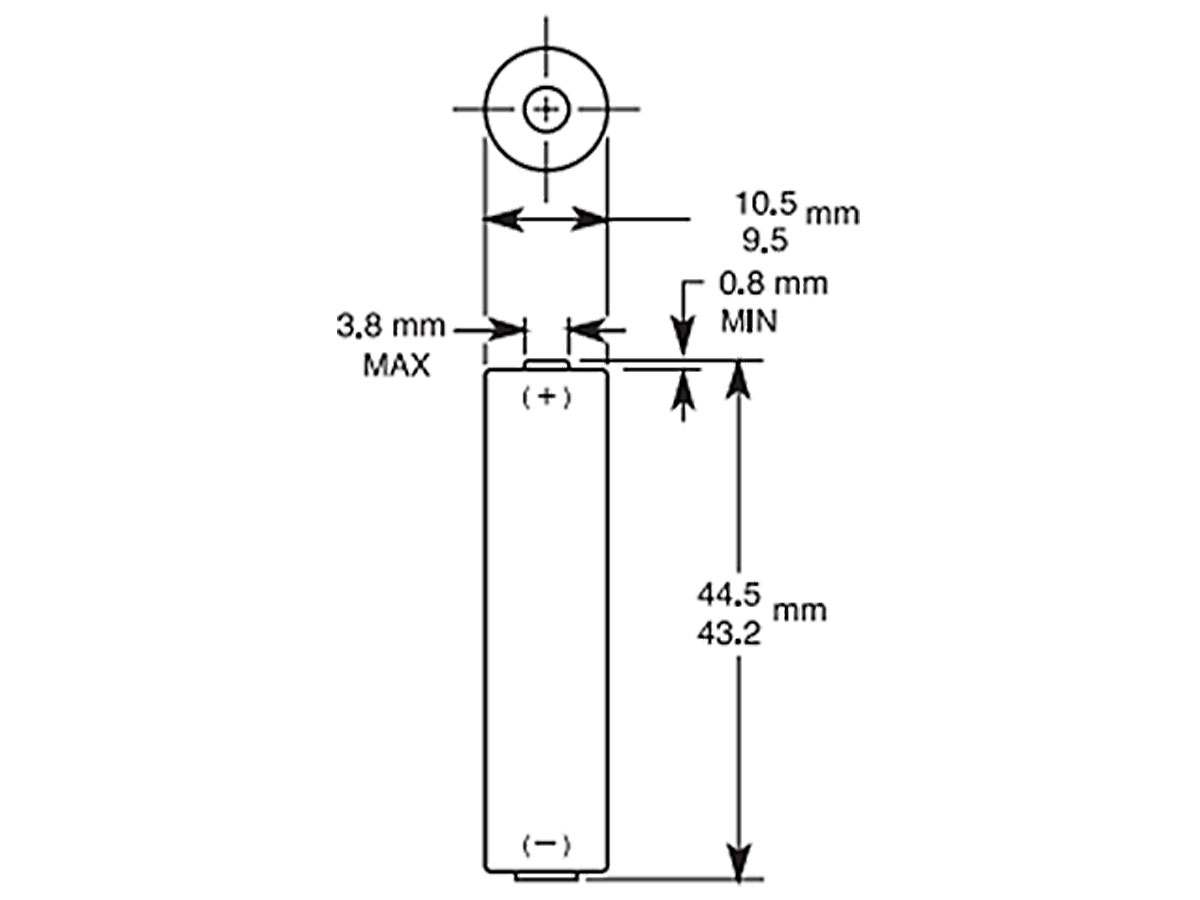 Dimensions for AAA