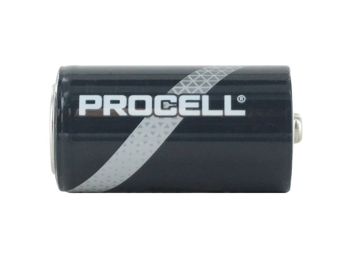 Duracell Procell C battery side profile