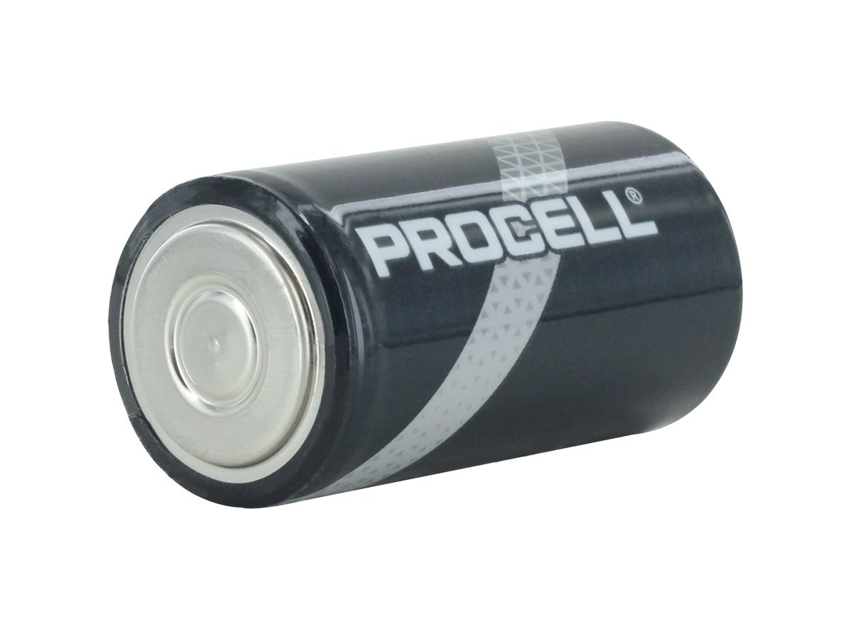 Duracell Procell C battery side angle