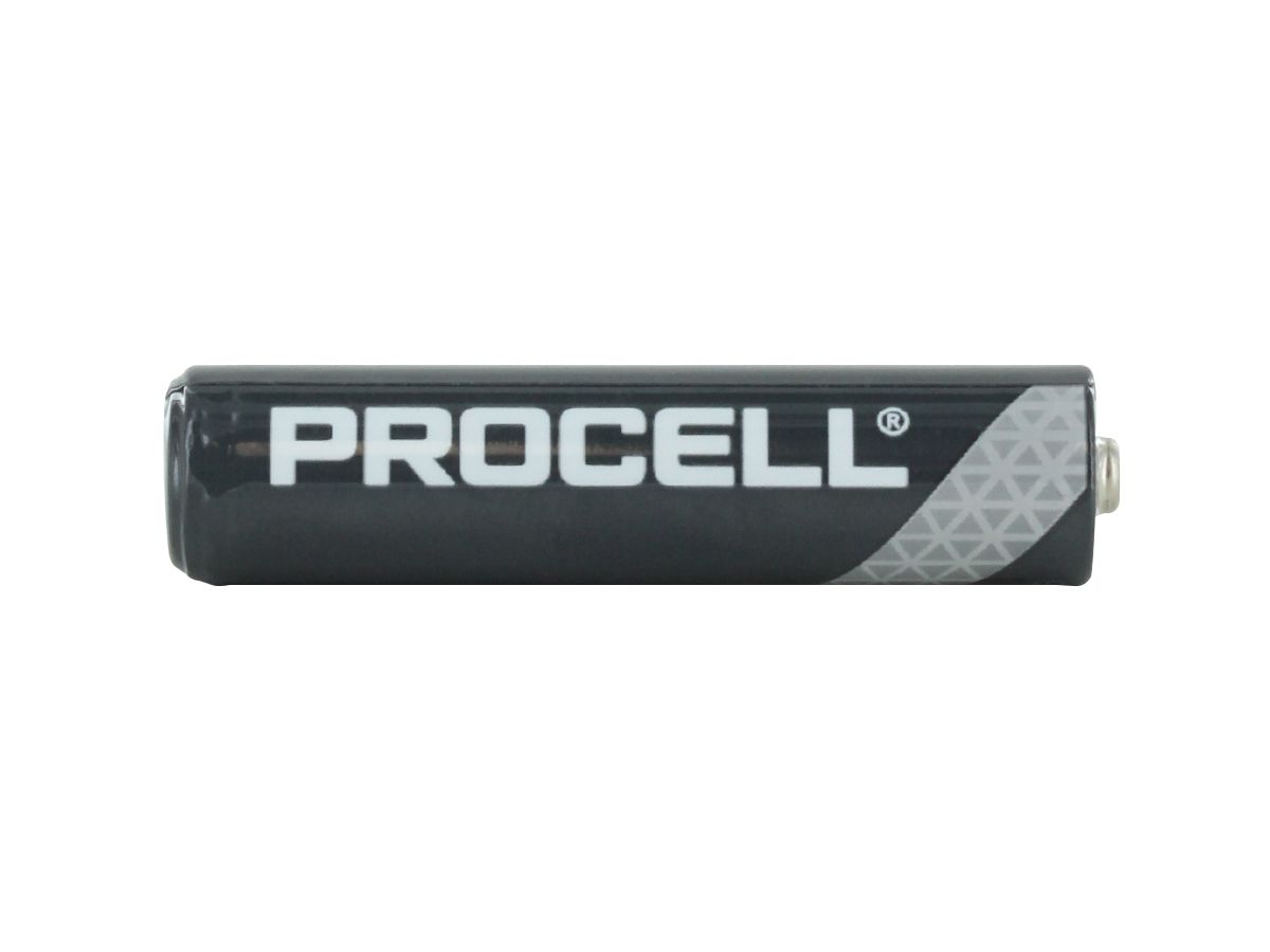 Side Shot of the Duracell Procell AAA 1.5V Alkaline Button Top Battery