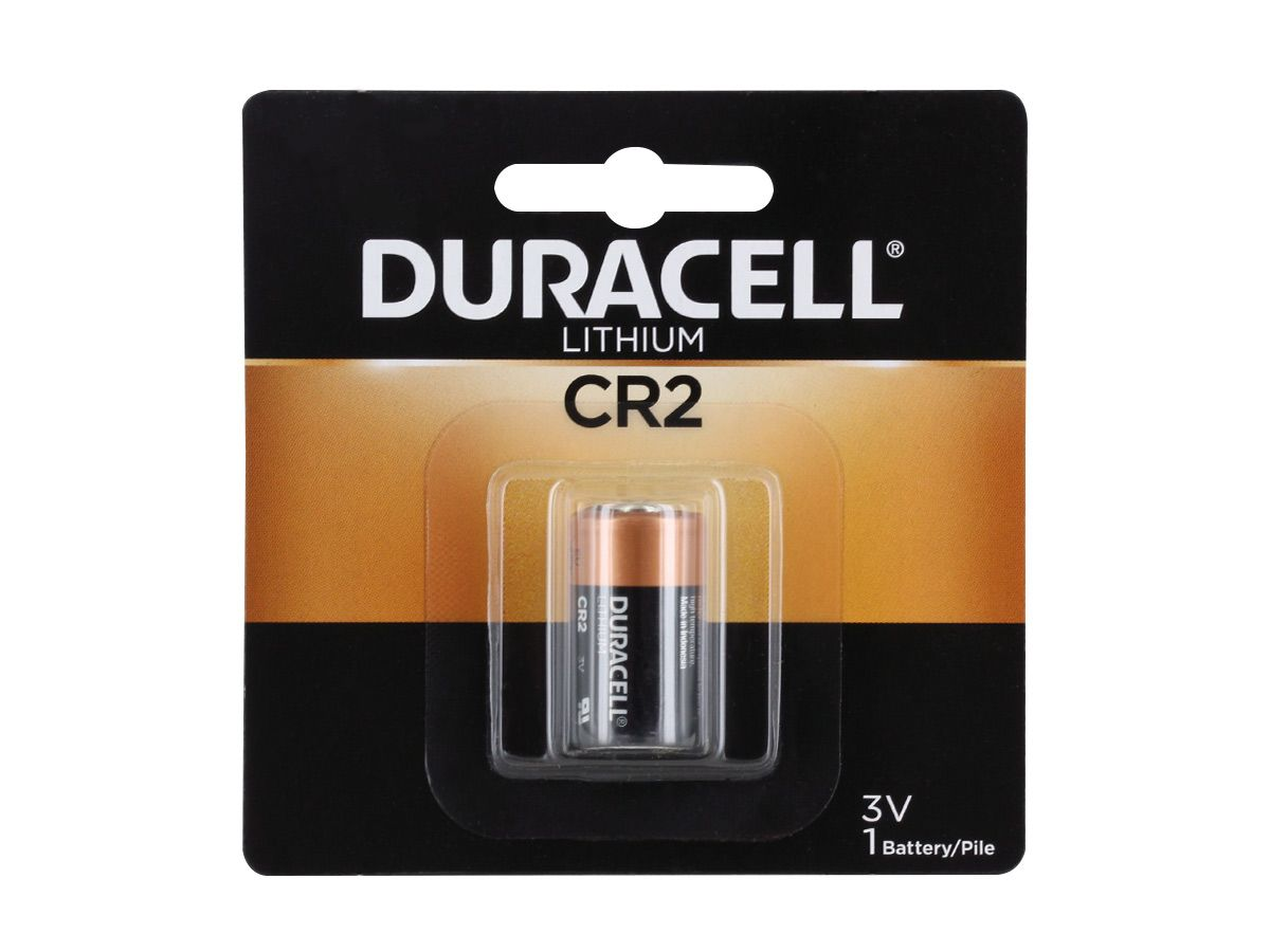 Duracell CR2 battery in retail card