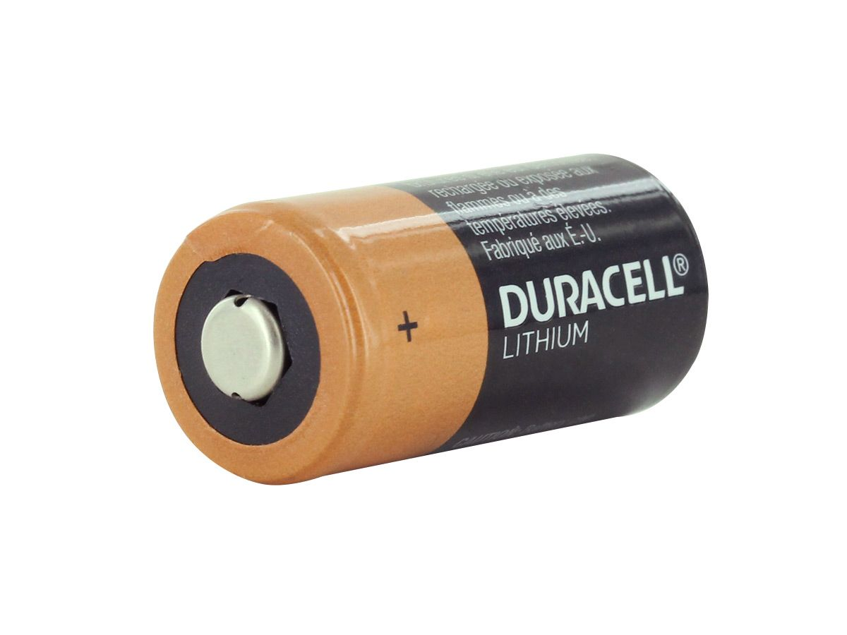 Duracell Ultra DL123A side profile
