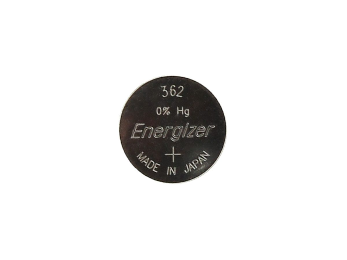 Set of 5 Energizer 362 coin cells in tear strip packaging