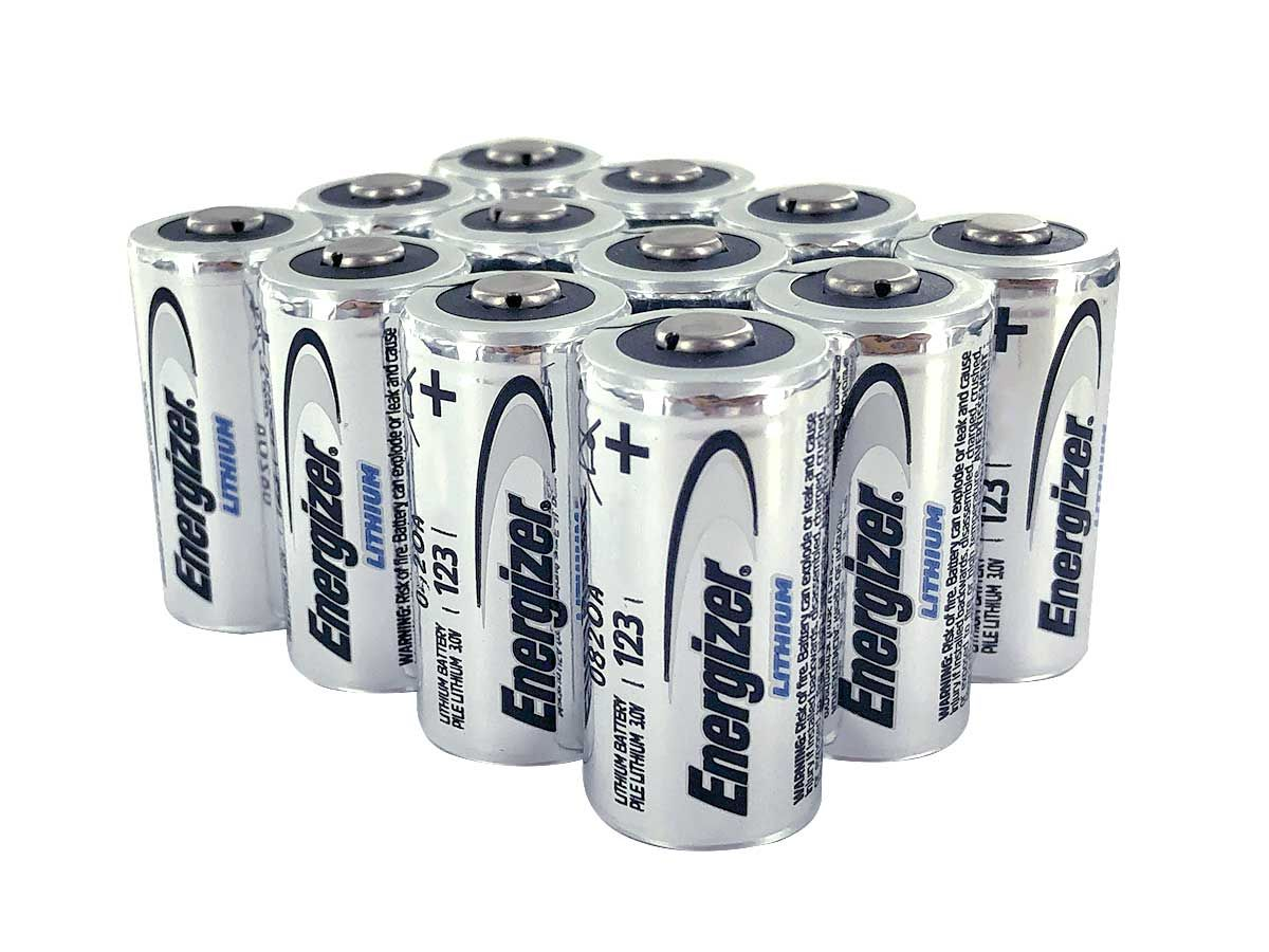 12-Pack of Energizer CR123A Batteries