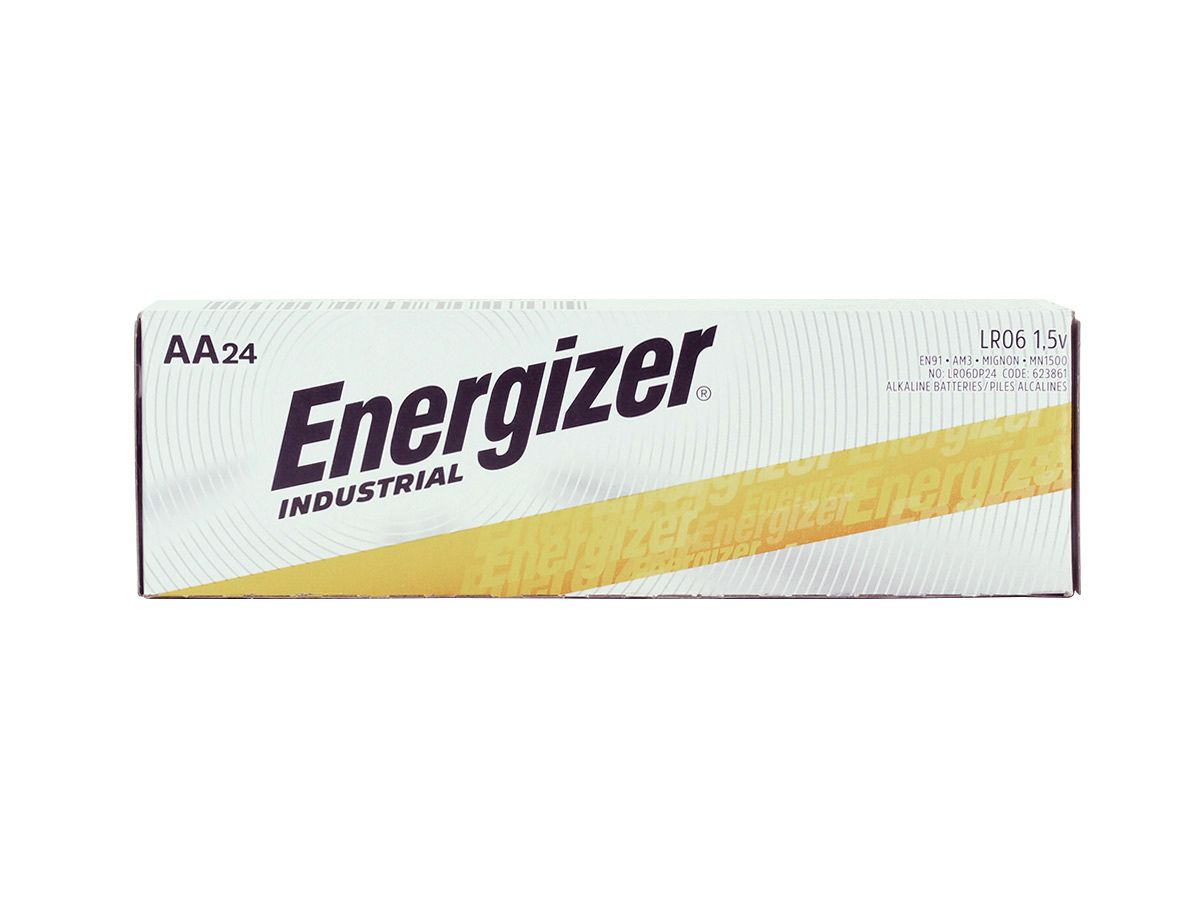 Energizer Industrial AA battery upright