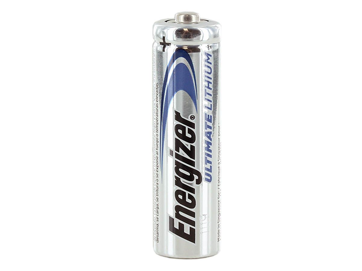 Size comparison between 4-pack, 24-pack, and single Energizer Ultimate L91 AA batteries