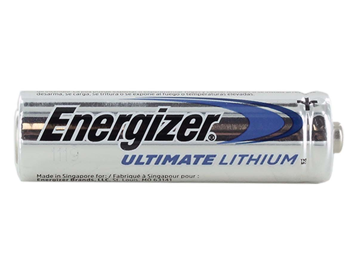 Single Energizer Ultimate L91 AA battery upright