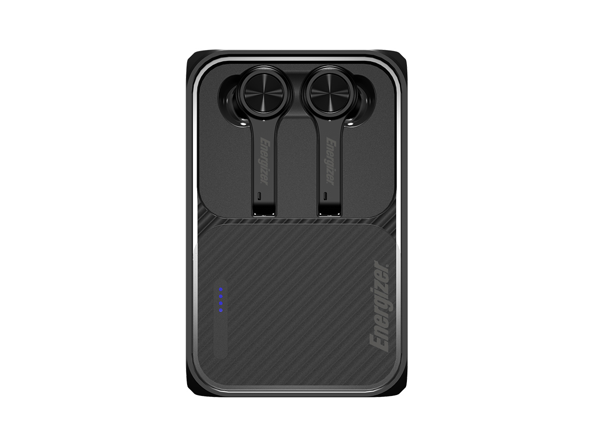 energizer ub5001 earbuds in case from above