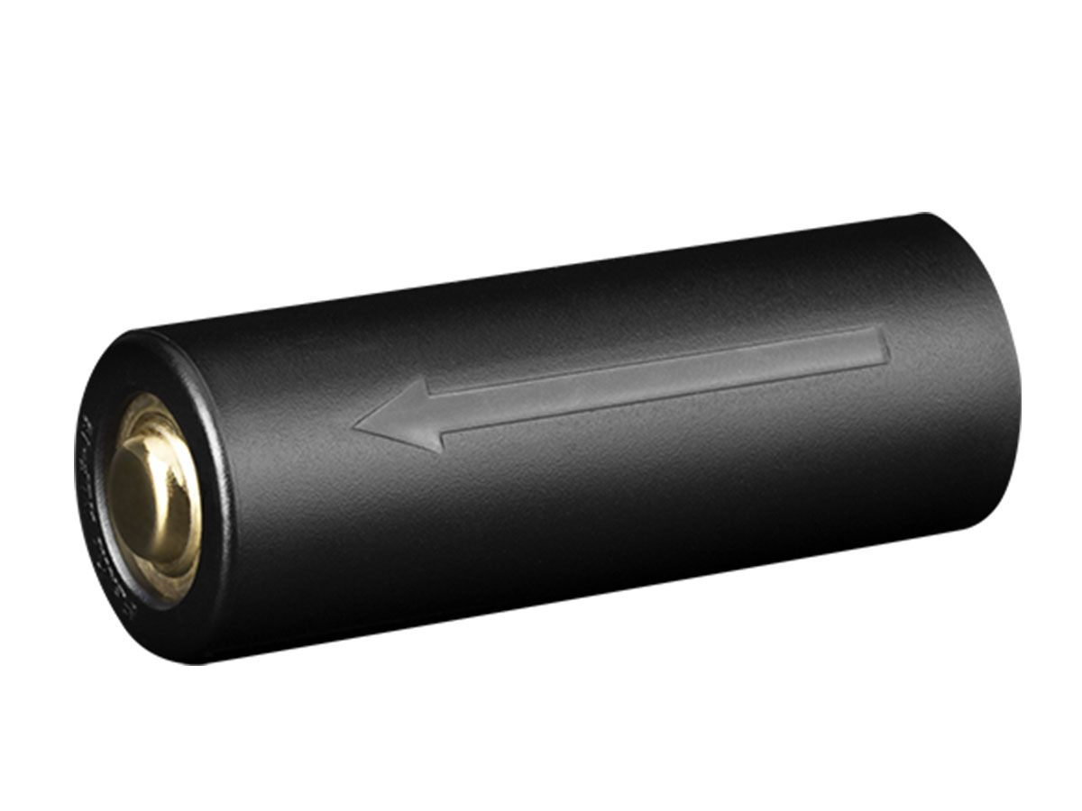 Fenix ALF-18 Battery Adapter left side angle with arrow showing