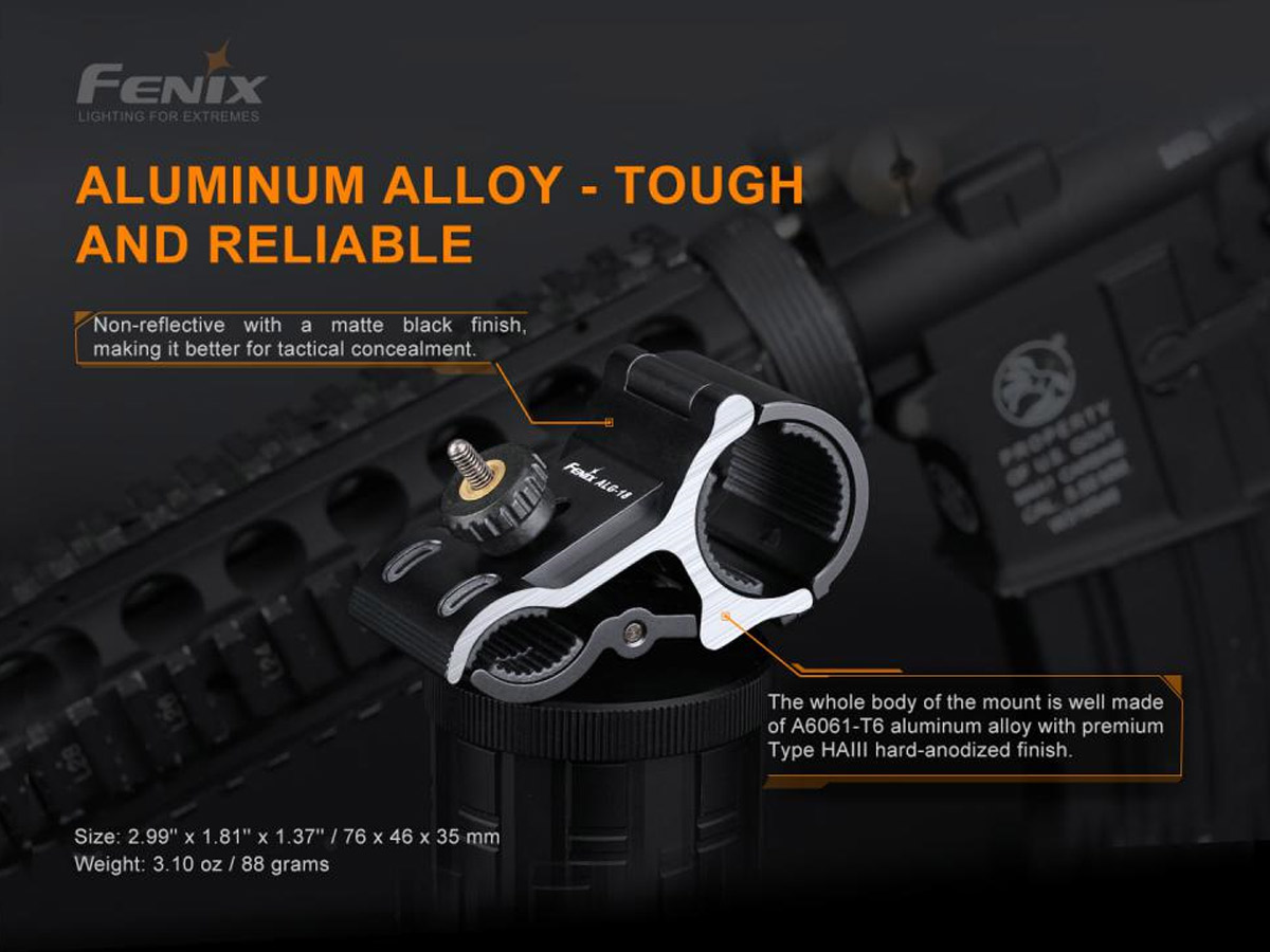 fenix manufacturer slide about aluminum alloy construction