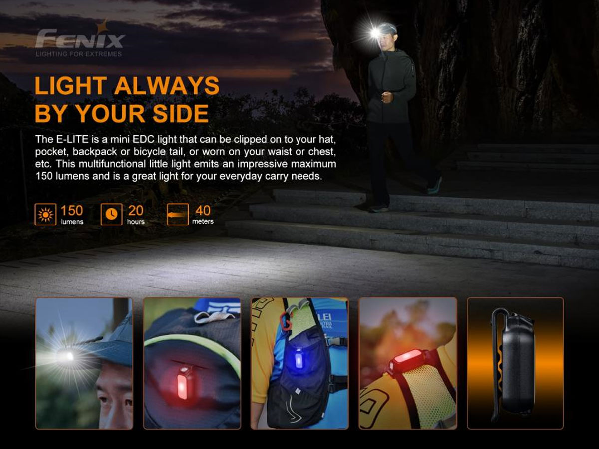 fenix manufacture slide about how useful a clip light is
