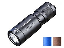 Fenix E02R Rechargeable KeyChain Flashlight - CREE XP-G2 - 200 Lumens - Uses Built-In 120mAh Li-Poly Battery Pack - Available in Black, Blue or Brown