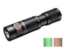 Fenix E05R Rechargeable LED Keylight - 400 Lumens - CREE XP-G2 S3 - Uses Built-In 320mAh Li-Poly Battery Pack - Black, Brown or Green