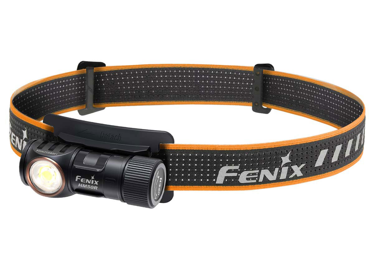 fenix hm50r v2 at an angle pointing down and to the left
