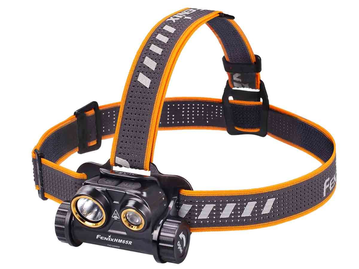 Fenix HM65R headlamp left side angle
