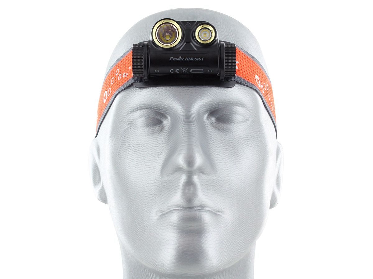 hm65r-t headlamp being worn by mannequin head, facing forward