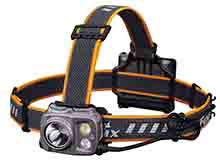 Fenix HP16R USB-C Rechargeable LED Headlamp - Luminus SST40 and CREE XP-G3 S4 - Includes ARB-LP3000 Li-Poly Battery Pack