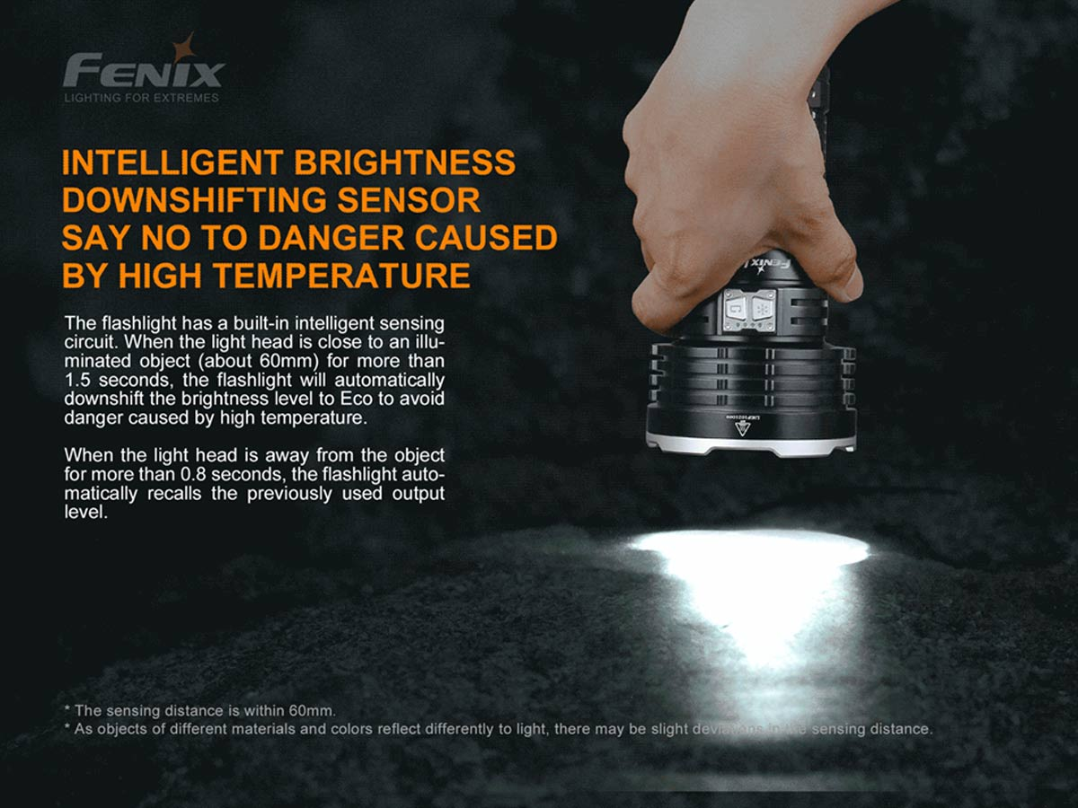 fenix manufacture slide about the intelligent brightness downshifting