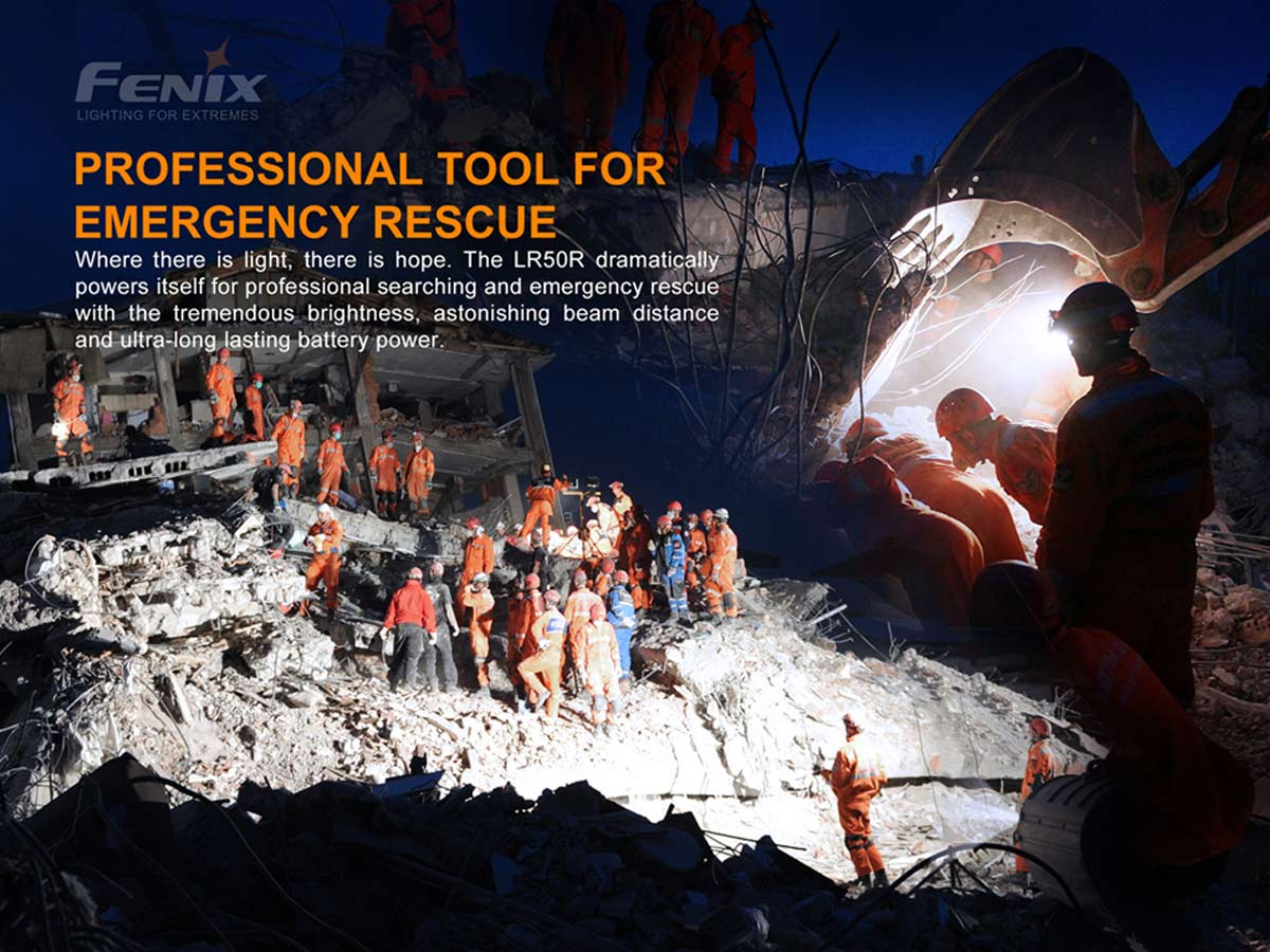 fenix manufacture slide about how useful it is for search and rescue