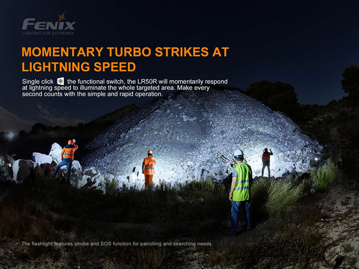 fenix manufacture slide about momentary strobe function