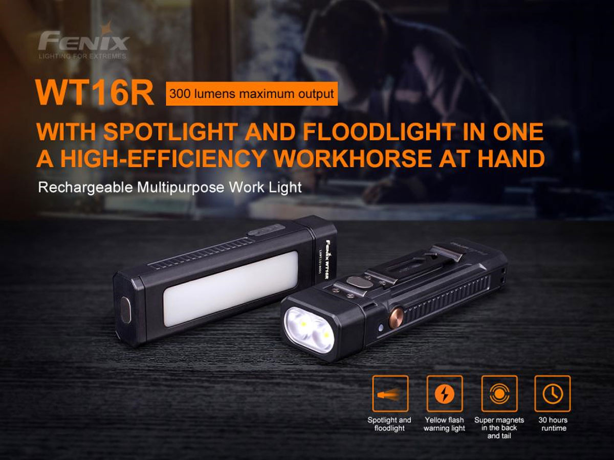 fenix manufacturer slide about wt16r main features