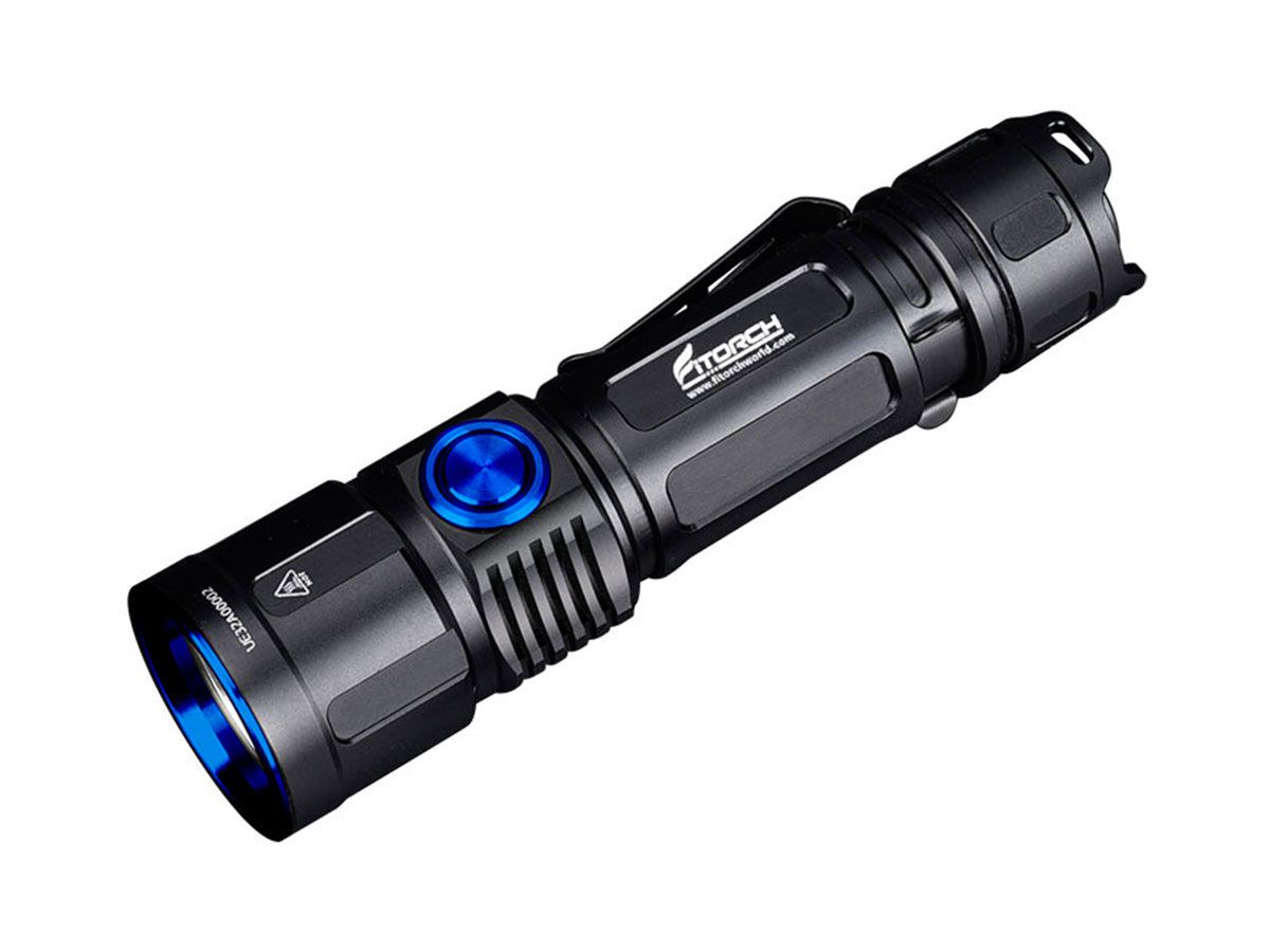 fitorch ec30 flashlight angled down and to the left