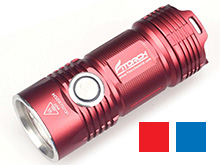 Fitorch P25 Little Fatty LED Flashlight - 4 x CREE XP-G3 - 3000 Lumens - Includes 1 x 26350 � Red or Blue