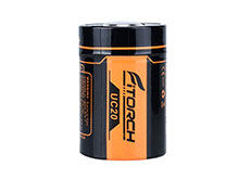 Fitorch UC20 26350 2000mAh 3.7V Protected Lithium Ion (Li-ion) Button Top Battery