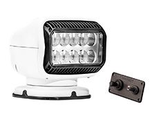 GoLight GT LED Permanent Mount Spotlight with Hardwired Dash Remote - White (20204GT)