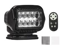 GoLight Stryker ST LED Permanent Mount Spotlight with Wireless Handheld Remote - Black (30514ST), White (30004ST), and Chrome (30064ST)