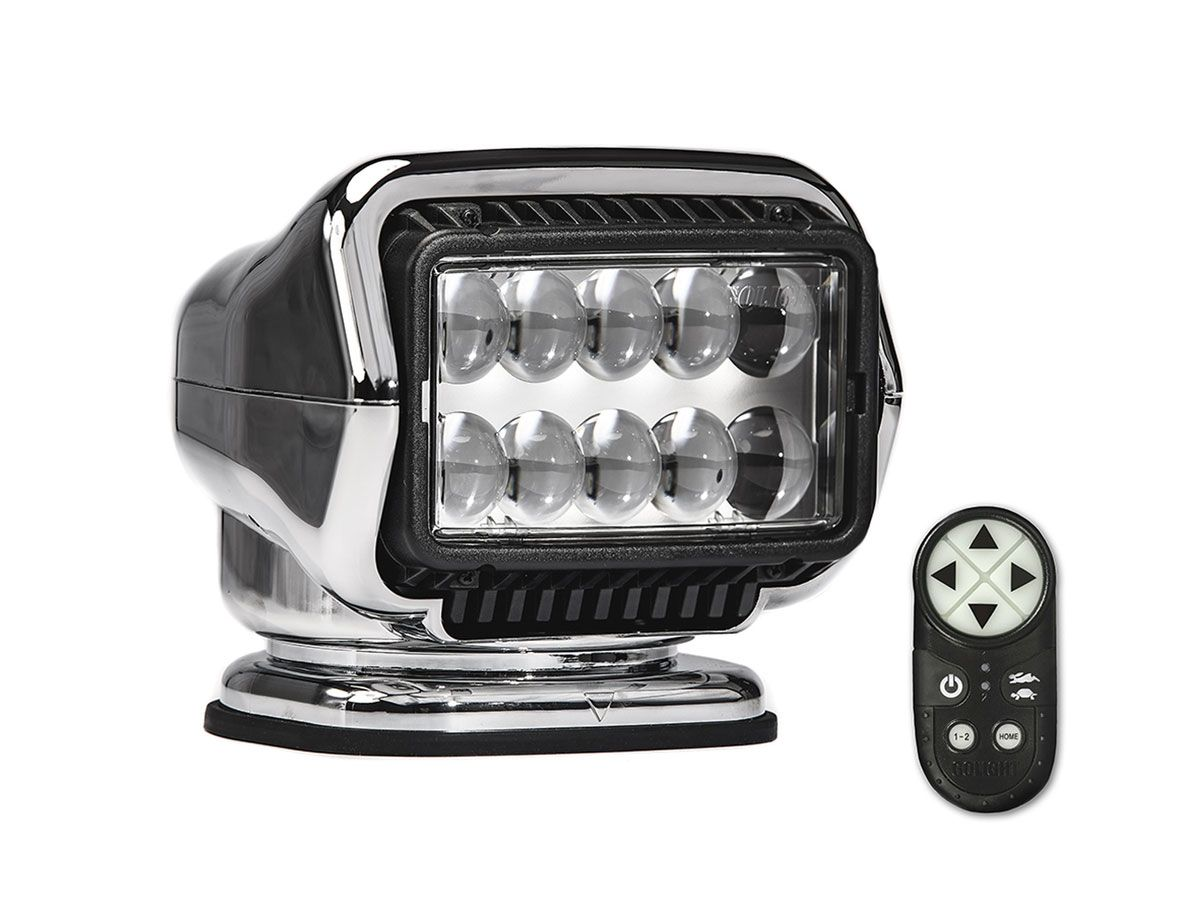 GoLight LED Stryker chrome with remote