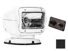 GoLight GT Halogen Permanent Mount Spotlight with Hardwired Dash Remote - Available in White (2020GT) or Black (2021GT)