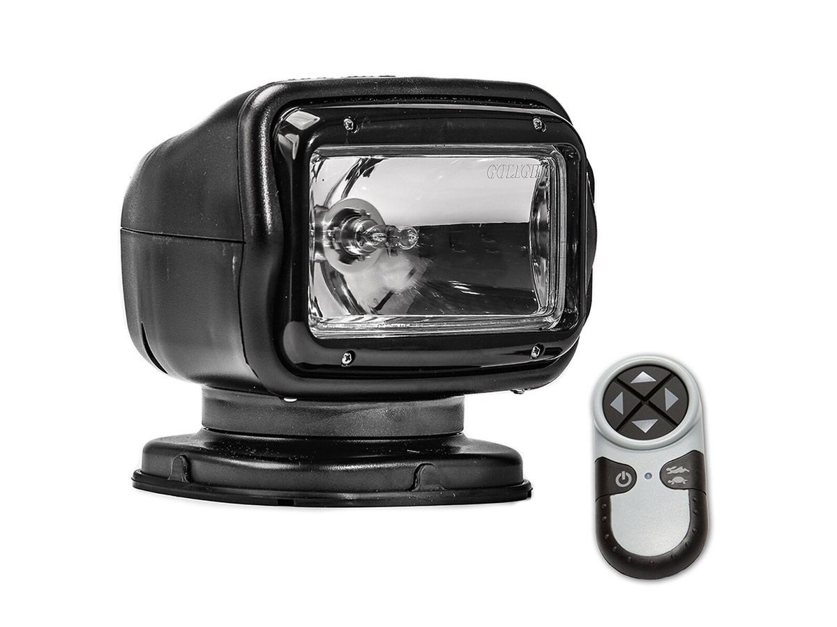 Golight Radioray Spotlight with remote in black