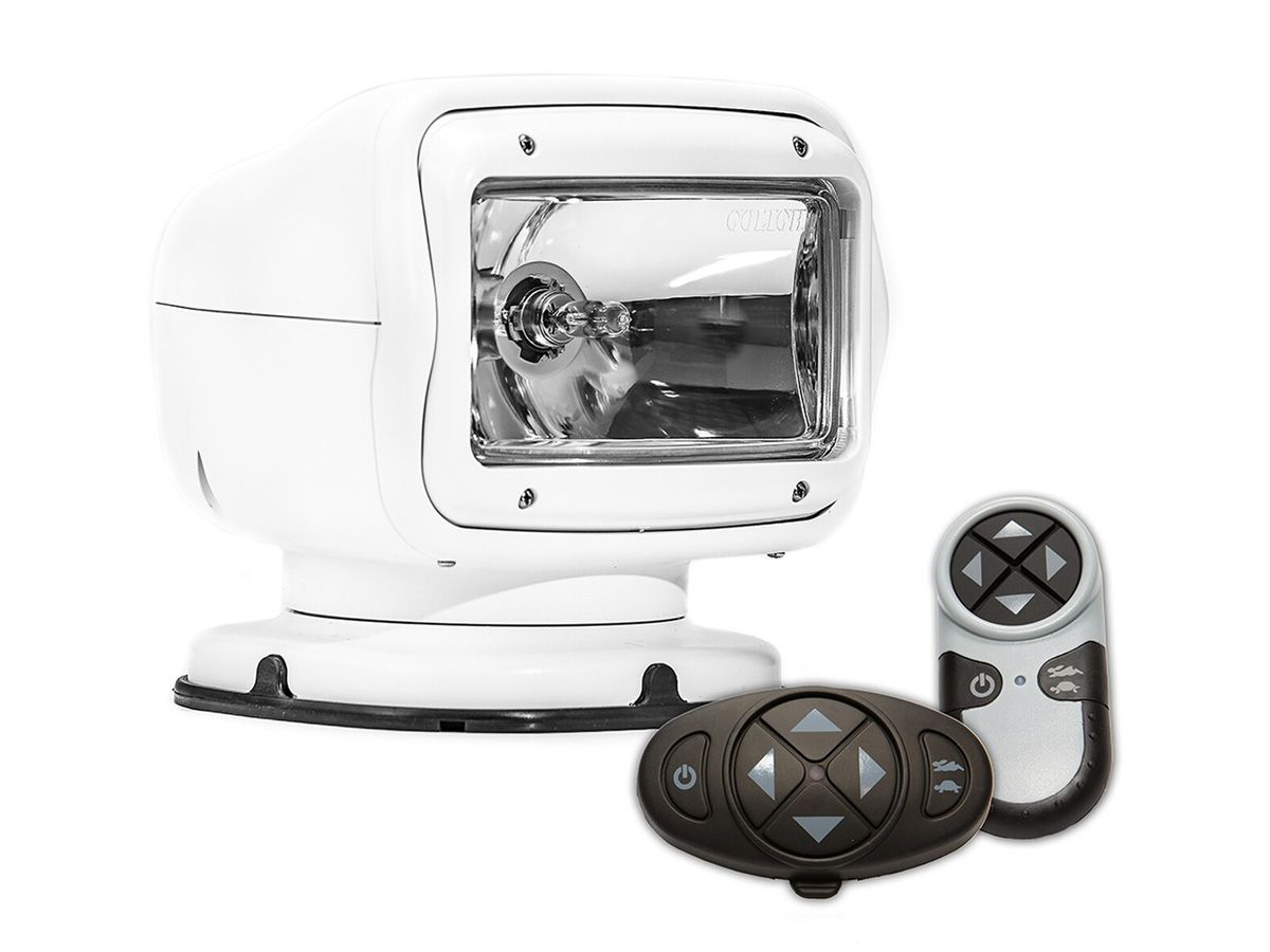 white golight permanent mounted halogen gt with remotes